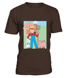 Farmer and Pig  #gift #idea #shirt #image #funny #job #new #best #top #hot #engineer
