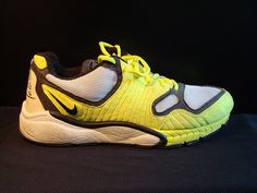 Zoom Talaria  Year Introduced: 2004  A classic from the early days of Zoom Air, the Talaria was a pure performance runner that found its true calling on the streets. The tennis ball yellow upper was genius, as was the flame fade on the outsole. For some reason the Talaria has only been reincarnated as a boot, which does a disservice to all involved.
