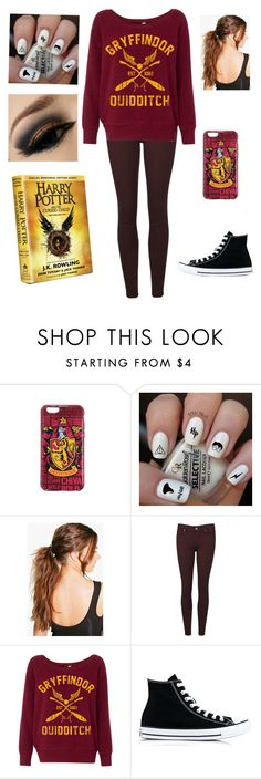 """Harry Potter and the cursed child"" by awesome-phine ❤ liked on Polyvore featuring Boohoo, Paige Denim and Converse"