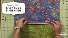In this sewing tutorial video, we will show you how to easily finish edging! http://www.nationalsewingcircle.com/video/sewing-tips-easy-edge-finishing-008024/?utm_source=pinterest&utm_medium=organic&utm_campaign=A220 #LetsSew