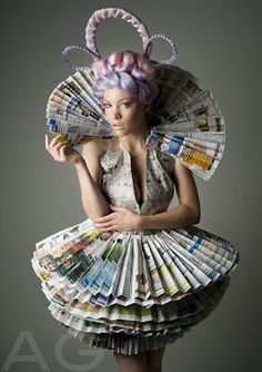 recycled wearable art ideas - Google Search