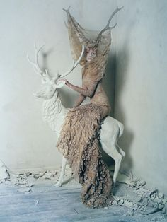 """'Dark Angel' photographed by Tim Walker for British Vogue, March 2015. A celebration of the work of Alexander McQueen, as the """"Savage Beauty"""" retrospective of his work begins at the V & A Museum."""