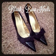 Worn once bow heels ❤ In excellent condition, worn once Shoes Heels