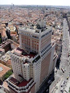 Edificio España, 117 m ft), built in Spain File:Plaza de-España En Madrid. Madrid Barcelona, Le Palais, World Cities, Great Places, Amazing Places, Beautiful Places, Continents, Paris Skyline, Places To Visit