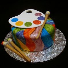 Painter Birthday Cake wickedcakechick, via Flickr - Something like this for Nick's birthday but more boy