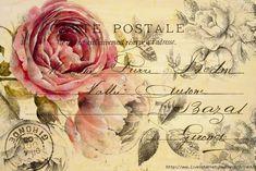 Imprimolandia: Vintage floral postcard