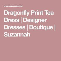 Dragonfly Print Tea Dress | Designer Dresses | Boutique | Suzannah