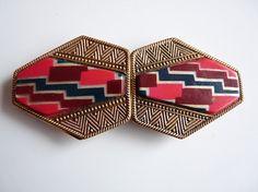 1930s Geometric Enamel Buckle