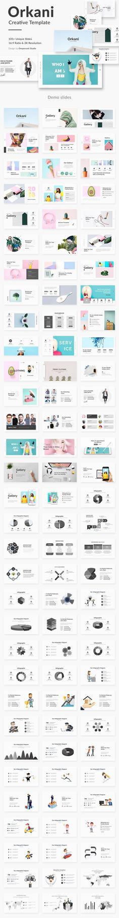 Orkani Minimal Powerpoint Template by One Percent Studio on @creativemarket
