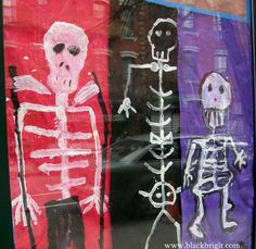 Children's skeleton paintings. Photo by Lilith Dorsey. It's never too soon to start celebrating the ancestors.