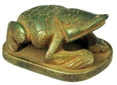 Egyptian frog statue associated with the Goddess Heket.