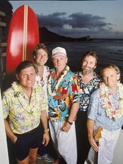 The Beach Boys in 1987, from left: Bruce Johnston,