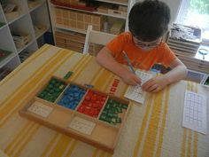 """""""Making Montessori Ours"""": Stamp Game Multiplication"""