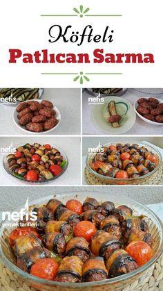 Meatball Roll Eggplant Wrap - Yummy Recipes Source by Meat Recipes, Cooking Recipes, Healthy Recipes, Meatball Recipes, Yummy Recipes, Dessert Recipes, Iftar, Cake Recipe Using Buttermilk, Tasty