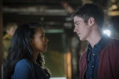 """The Flash -- """"Flashpoint"""" -- Image: -- Pictured (L-R): Candice Patton as Iris West and Grant Gustin as Barry Allen -- Photo: Katie Yu/The CW -- © 2016 The CW Network, LLC. All rights reserved. Iris West Allen, Paula Patton, Kid Flash, Barry Iris, The Flashpoint, The Flash Season 3, Best Tv Couples, Mixed Couples, Tragic Love Stories"""