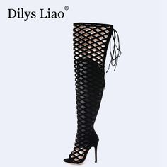>> Click to Buy << Dilys Liao Hot Branded Name Women Fashion Sandals Boots Open Toe Stiletto High Heels Shoes Sandals Night Club Party Dress Shoes #Affiliate