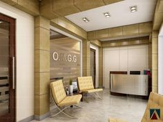 Designed by: DRDG Visualization by: Anonymus Design Studio Law Office Reception Area Corporate Office Design, Law Office Design, Office Reception Design, Office Seating, Reception Areas, Office Interior Design, Office Interiors, Office Designs, Reception Seating