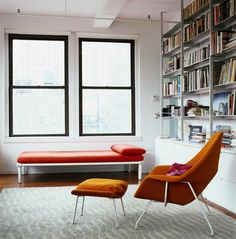 via Office for word and image Womb Chair, Mcm Furniture, Inside Outside, Cozy Nook, Room Pictures, Large Homes, Architecture, Decoration, Interior And Exterior