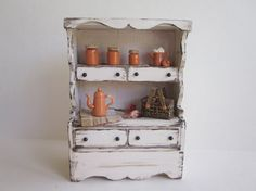 Miniature Dollhouse Furniture Rustic Kitchen by MyCupTeaMiniatures