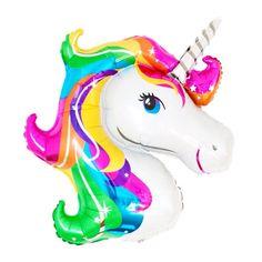 Rainbow Unicorn Balloon - Giant Unicorn Mylar Balloon - Unicorn Birthday Party Supplies, Rainbow Party Decor, Unicorn Party Decor,