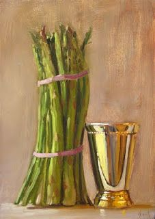 Asparagus, Glass Vase, Vegetables, Paintings, Art, Home Decor, Art Background, Studs, Decoration Home