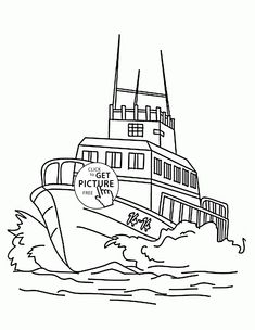 Small Fishing Boat coloring page for kids transportation coloring
