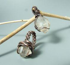 Herkimer diamond pendant ring set https://www.facebook.com/VeraNasfa.jewelry