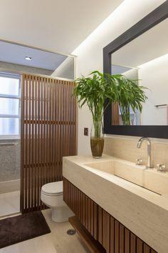 Banheiro com cara de lavabo