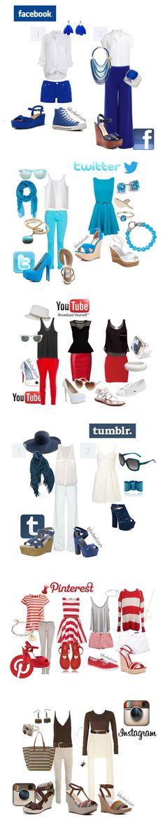 La moda del Social Media. Vistamonos segun la red social q mas nos gusta.