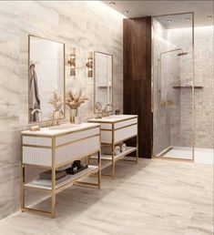 Fall has exhaled a breath of fresh air into our showrooms through exclusive new arrivals. ✨ The Akoya collection captures the beauty and richness of precious pearls, multiplying the luxe effect through exquisite alabaster and onyx. Scroll through for some stunning images of the porcelain tiles in use and link in bio for more information! ⬆️ Bathroom Wall Coverings, Marble Effect, Ceramic Materials, Bathroom Inspiration, Bathroom Ideas, Mosaic Tiles, Double Vanity, Glamour, Furniture