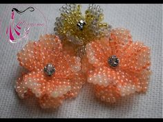 seed bead tutorial - easy flowers