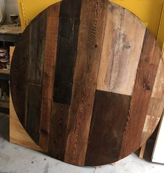 reclaimed wood dining top,Round dining table, wood variety