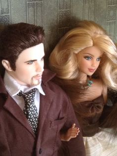 """Oh Ken, I've had enough of the spot light for one day, let's get out of here!  taxi!""  Live auction dolls by Barbie Seeger"