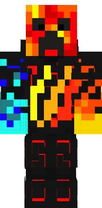 Fire and ice tbnrfrags skin Minecraft Skins Boy, Cool Minecraft Houses, Minecraft Games, Jungle Door, Preston Playz, Ice Magic, Minecraft Characters, Horse Armor, Minecraft Skins