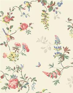 Cath Kidson wall paper-Birds  Roses