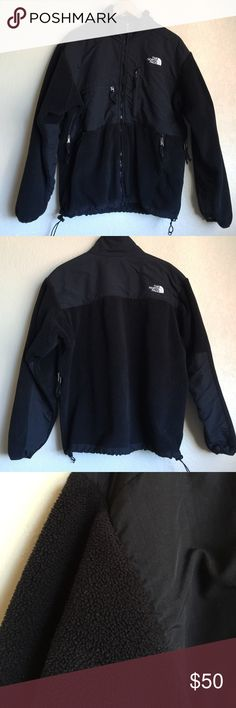 MEN'S North Face Denali Jacket Zip Sweater Black MEN'S North Face Jacket in medium. Great used condition. Place take a look at fleece. Has been washed. Taken care of very well and still looks good to me. No rips or tears. No stains. Does the job of keeping you warm! Also more flexible on Ⓜ️erc. Or send an offer. More men's items to come... bundle! The North Face Jackets & Coats