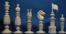 """More elaborate version also exist, because there is no other type definition for sets following this form and sectional construction of the set below one can consider it a """"Barleycorn"""". This is a large set probably made by one of the better manufactures like Calvert."""