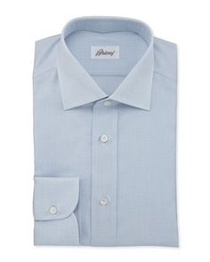 Textured Woven Dress Shirt, Blue by Brioni at Neiman Marcus.