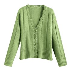 Scalloped Button Up Cardigan Green ($25) ❤ liked on Polyvore featuring tops, cardigans, green top, scallop top, green cardigan, scallop edge top and button down cardigan