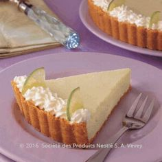 Recipe - Key Lime Pie - Combine biscuit crumbs and butter in a bowl, rub the ingredients to combine well, press the mixture over the base and sides of a 26cm loose bottom tart tin.  Set in the fridge for 10 minutes.
