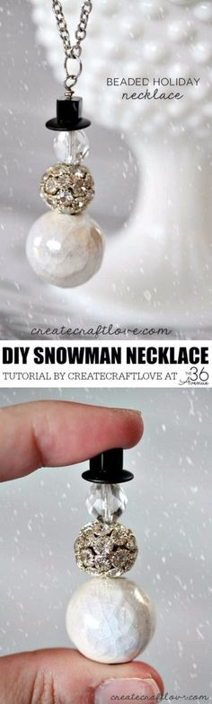 Best DIY Ideas for Wintertime - Beaded Holiday Necklace - Winter Crafts with Snowflakes, Icicle Art and Projects, Wreaths, Woodland and Winter Wonderland Decor, Mason Jars and Dollar Store Ideas - Easy DIY Ideas to Decorate Home and Room for Winter - Creative Home Decor and Room Decorations for Adults, Teens and Kids http://diyjoy.com/diy-ideas-wintertime