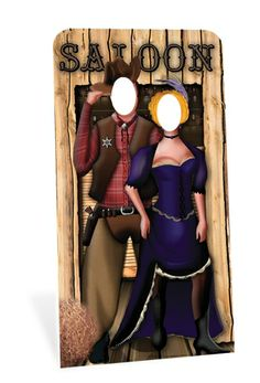 Wild West Stand In Cardboard Cutout - Fun Party Supplies Dance Party Decorations, Prom Decor, Party Themes, Party Ideas, Life Size Cutouts, Life Size Cardboard Cutouts, Peterborough, Saloon Decor, Wild West Party