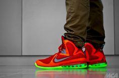 LeBron 9 'Big Bang' On Feet - Glow In The Dark