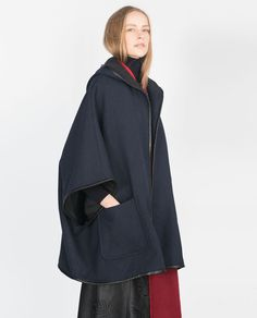 HOODED WOOL CAPE-View all-Outerwear-WOMAN | ZARA United States