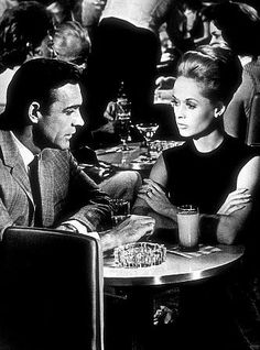 "Shaun Connery and Tippi Hedren in ""Marnie"". Not to be missed!"