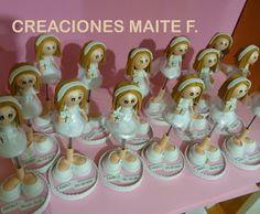FOFUCHAS. Manualidades y Creaciones Maite: FOFU BOLIS NIÑA COMUNION PERSONALIZADA