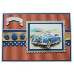Handmade Vintage Car Birthday Card