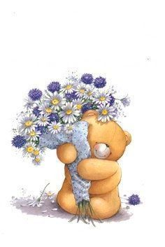 Forever Friends Thank You Decoupage Love Hug, Love Bear, Tatty Teddy, Birthday Greetings, Happy Birthday, Decoupage, Fizzy Moon, Blue Nose Friends, Mothers Day Special