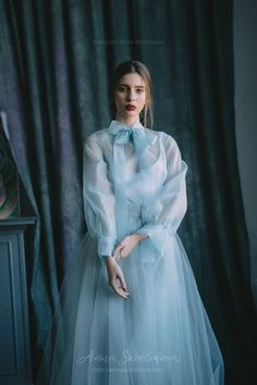 Blue wedding dress silk wedding dress custom wedding dress vintage wedding dress organza wedding 21 adorable blue wedding dresses for romantic celebration Wedding Dress Organza, Custom Wedding Dress, Blue Wedding Dresses, Blue Dresses, Wedding Gowns, Organza Dress, Wedding Blue, Bridesmaid Dresses, Wedding Shoes