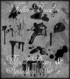 Blood and Splatter Brushes 2 by Falln-Brushes.deviantart.com on @DeviantArt